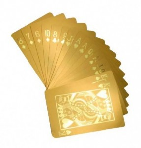 gold poker cards gift ide